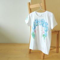 手描きTシャツ(Mサイズ・フルペイント) 〔Faces〕