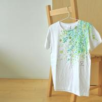手描きTシャツ(Mサイズ・フルペイント) 〔みどり〕
