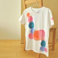 手描きTシャツ(Lサイズ・フルペイント) 〔いろどり〕
