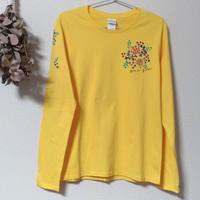 手描き長そでTシャツ(Lサイズ・片面ペイント) 〔小さい花〕