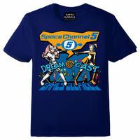 ドリームキャスト x スペースチャンネル5 Tシャツ  -NAVY-