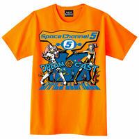 ドリームキャスト x スペースチャンネル5 Tシャツ  -ORANGE-