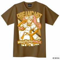 セガ・ハード・ガールズ x ドリームキャスト Tシャツ -ブラウン-