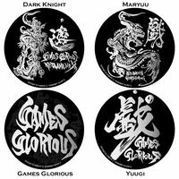 【KEITAAMEMIYA x GAMESGLORIOUS】 KEITA AMEMIYA Steel badge (4種類)