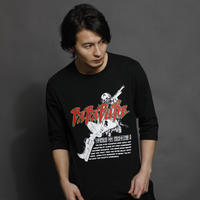 バラデューク 2/3スリーブ Tシャツ (黒)