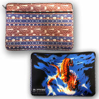 R-TYPE 「R-9 Earth-Ethnic PC Clutch Bag」-BROWN / NAVY-