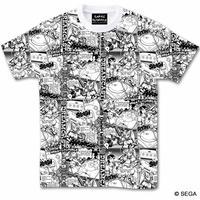 セガ・ハード・ガールズ x ドリームキャスト Comic`s Tシャツ -WHITE--