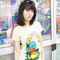 パックマン Arcade Comic`s Tunique T-Shirt  (Baby Yellow)