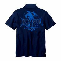 Dragon Spirit 30th Anniversary POLO Shirt  -Single Head- (NAVY)