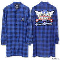 【SONIC THE HEDGEHOG】 Plaid  Long Shirt