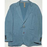 【BARNEYS NEWYORK取り扱い】eleventy ニットジャケット グレイッシュブルー 52サイズ イタリア製