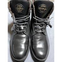 箱、替え紐付き GOLD BROTHERS ワークブーツ ブラック 43サイズ イタリア製