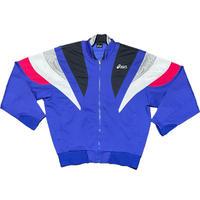 MADE IN JAPAN製 90's asics World Performanceモデル フルジップトラックジャケット ブルー Mサイズ相当