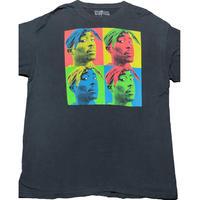 状態考慮 2PAC ポップアートロゴTシャツ ブラック XLサイズ