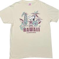 MADE IN USA製 SUN SURF × Vintage PEANUTS SNOOPY コラボレーション半袖Tシャツ ライトイエロー Mサイズ