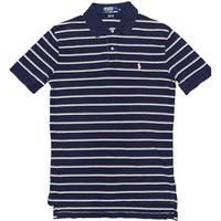 Polo By Ralph Lauren 半袖ボーダーポロシャツ ネイビー×ピンク Mサイズ