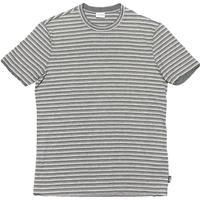 ARMANI COLLEZIONI 半袖レイヤードボーダー柄Tシャツ グレー Mサイズ