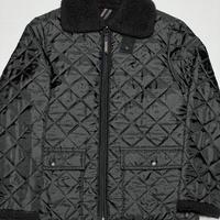 SHIPS別注 LAVENHAM フルジップキルティングボアジャケット ブラック 36/48サイズ イギリス製