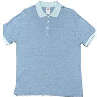 MADE IN ITALY製 gicipi 半袖ポロシャツ サックス 5/Lサイズ