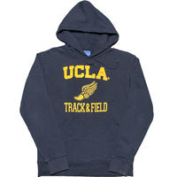 UCLA TRACK & FIELD ロゴプリントプルオーバーカレッジパーカー ネイビー Mサイズ