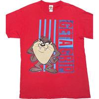 Looney Tunes Tasmanian Devil キャラクタープリントTシャツ レッド Lサイズ