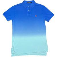 POLO RALPH LAUREN グラデーション半袖ポロシャツ ブルー×サックス Sサイズ