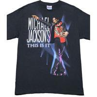 MICHAEL JACKSON THIS IS IT ユニバーサルミュージックタグ付きTシャツ Hanesボディ ブラック Mサイズ