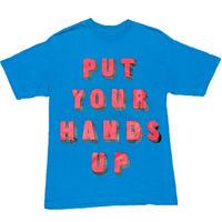 ROCSTAR PUT YOUR HANDS UP Tシャツ ターコイズブルー Mサイズ