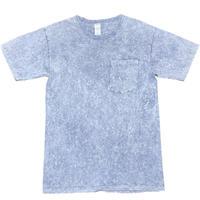 MADE IN USA製 S.O.S. from Texas オーガニックコットンウォッシュ加工ポケット付きクルーネックTシャツ サックス Sサイズ