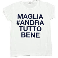 ★新品★ MADE IN ITALY製 MAGLIA ロゴプリント クルーネックTシャツ ユニセックス
