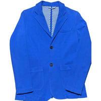 【BARNEYS NEWYORK取り扱い】V86 コットンテーラードジャケット ブルー Sサイズ イタリア製