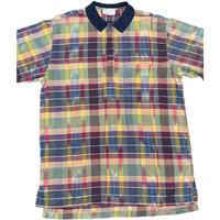 Bagutta BEACH WEAR ポロシャツ型半袖チェックシャツ マルチカラー Mサイズ