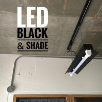 【B-1L20K】1灯 LED蛍光灯 つや消しブラック ダクトレール用 照明器具