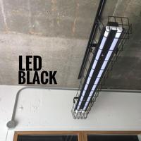 【B-2LG】ダクトレール用 2灯 LEDライト 笠、 ガード付き つや消しブラック 照明器具