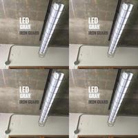 4台セット【GR-1LGSD】1灯LEDライト 笠、ガード一体型  ツヤ消しグレー ダクトレール用