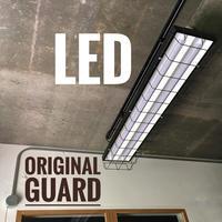【B-2LWG】配線ダクト用 2灯 LEDライト オリジナルワイヤーガード   つや消しブラック
