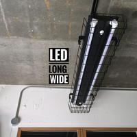 【B-2LG02】配線ダクトレール用 2灯 LEDライト 笠、 ガード付き つや消しブラック 照明器具