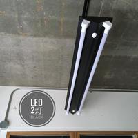 【B-2LF】配線ダクトレール用 2灯LEDライト  つや消しブラック