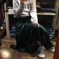 [USED]サラサラ〜ベロアのフレアスカート