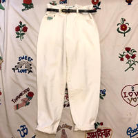 [USED] Euro  80's WHITE DENIM BANANA PANTS