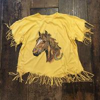 [USED] かわいいお馬さんフリンジTee