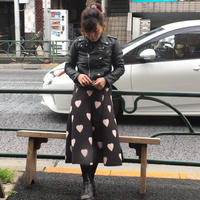 [USED] ハート柄ロングスカート
