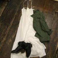 [USED]  WHITEコットンワンピース