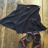 [USED] DOT柄シフォンスカート