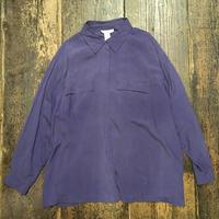 [USED] 2X! パープル シルクシャツ