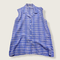 [USED] レーヨンノースリーブシャツ/ ブルーチェック