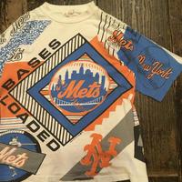[USED] 全面print!  NEWYORK Mets vintage Tシャツ