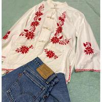 [USED] 刺繍 チャイナシャツ