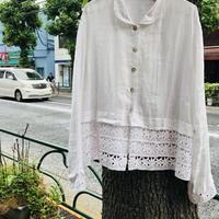 [USED] 白リネンシャツ