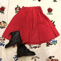 [USED] RED ひざ丈 ギャザースカート♡